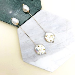 Starry Night Pearls 14kgf Earrings 【Christmas Earrings】【Pearls Earrings】【Gifts】