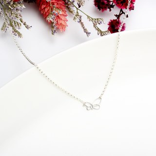 Butterfly String s925 sterling silver necklace Valentine's Day gift