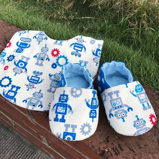 Customized - cowboy hat + robot bib + star triangle bib