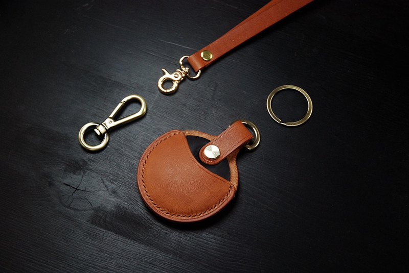 【聖誕節限量優惠中延長中】GOGORO&YAMAHA感應鑰匙圈皮套-深棕色