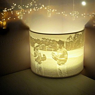 Custom Photo Night Light / Lithophane Table Lamp / Tealight Holder, incl. LED