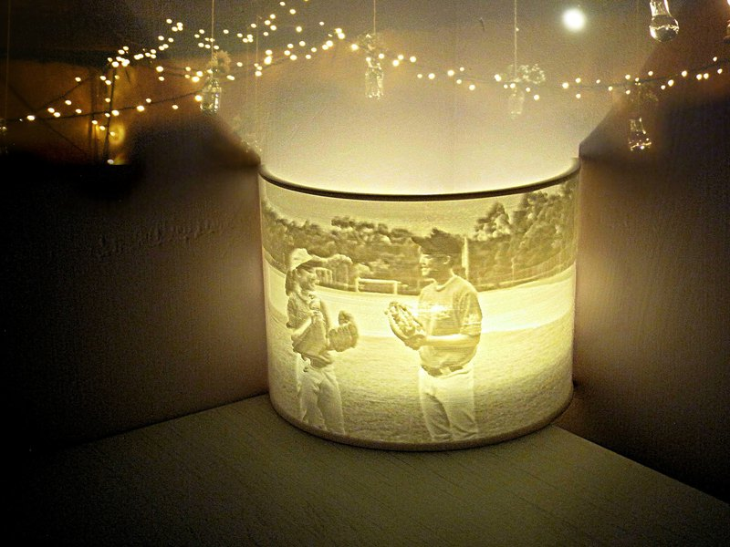Custom Photo Night Light Lithophane Table Lamp Tealight Holder