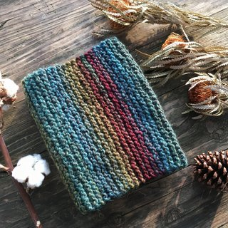 Mama の Hand-made scarf - forest color gradients - Gifts / Christmas