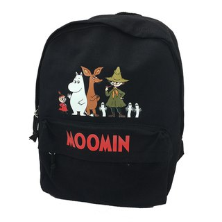 Moomin 噜噜 米 authorized - New zipper backpack (black)