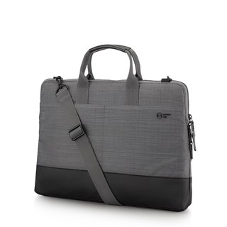 "<Lightweight anti-fouling more storage> Metro 15.6"" commuter cache business bag - linen gray"