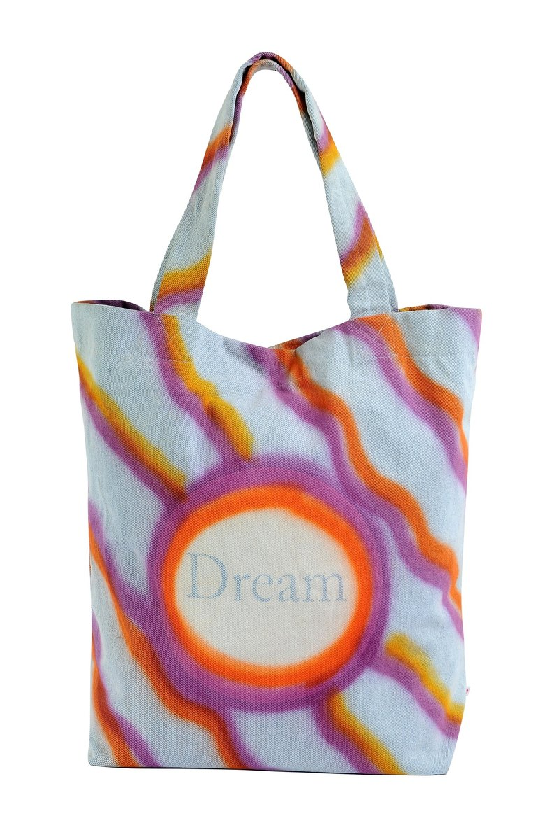 Dreams Never End Denim Tote Bag