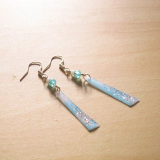 Little blue and white candy x // 2nd use Accessories / Accessories Cloth / fabric earrings