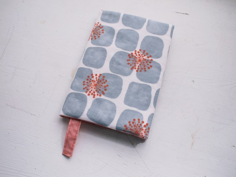 Dandelion handmade book / book cover - gray (notebook / diary / PDA)