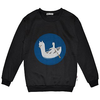 British Fashion Brand -Baker Street- Boating Alpaca Printed Sweater