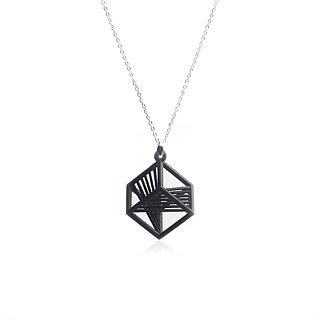 【String Art】3D Printing Geometrical Cubic Necklace