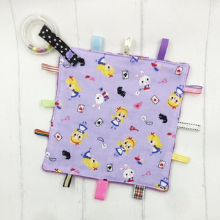 F39-handmade 2 in 1 handbell label appease towel can be used as pacifier chain Japanese double yarn X2 times = 4 layers
