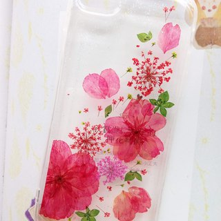 Handmade phone case, Pressed flowers phone case, iPhone7,iPhone8