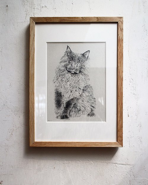 Staring animal series digital print replica No.2 | SAKOSTUDIO