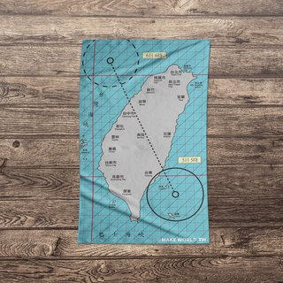 Make World map to make sports bath towels (typhoon)