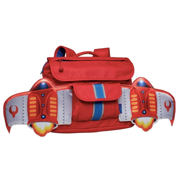 United States Bixbee fly flying childlike series - Firebird red jet child backpack