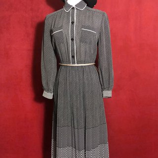 French-style long-sleeved vintage dress / brought back to VINTAGE abroad