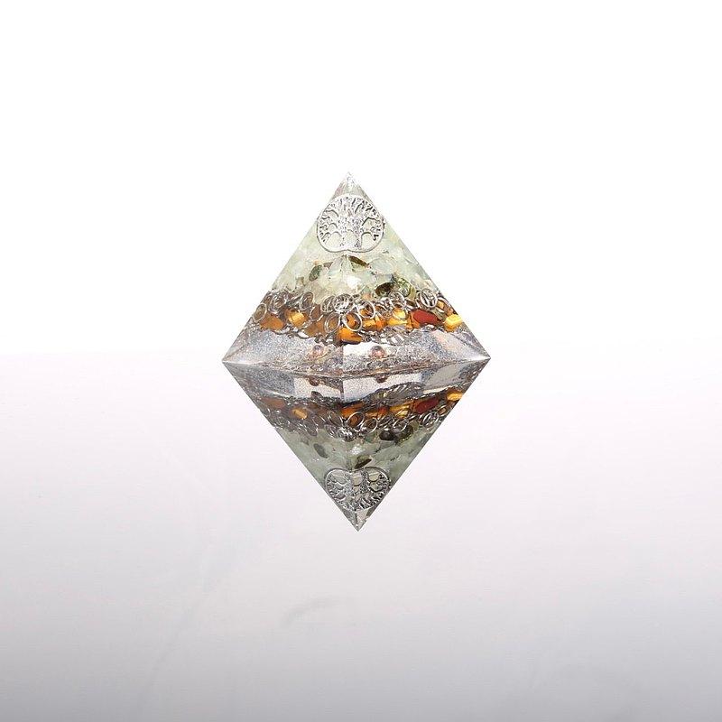 透明感生命之樹奧剛金字塔Orgonite水晶礦石金屬聚寶盆開運招財靈