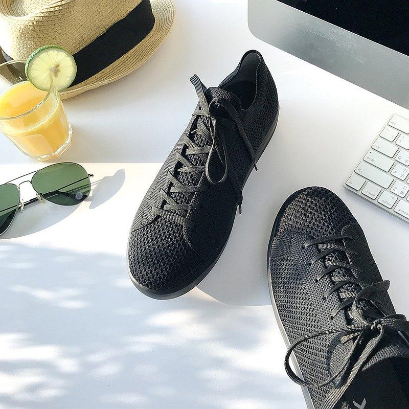 (男款)城市旅人休閒鞋/黑