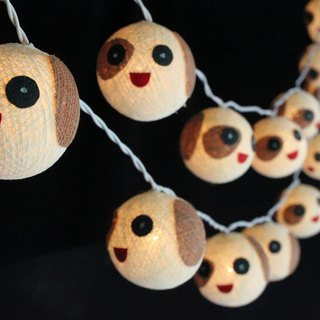 20 Cute Dog - Cotton Ball String Lights for Home Decoration,Party,Bedroom,Patio and Decoration