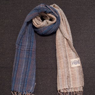 EARTH.er │Natural Dyed Scarf (Blue+White)│