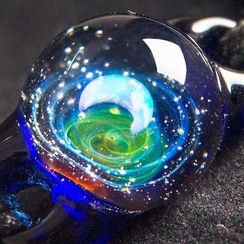 【原創宇宙琉璃項鍊】日本銀河玻璃手鍊聖誕星空送禮生日飾品禮物