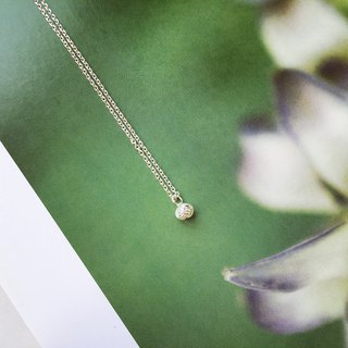 925 sterling silver mini clavicle chain [small wool ball necklace]