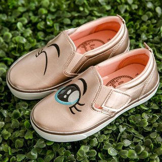 Rosa Rose Gold Eyes Slip-On Casual Shoes (Kids)