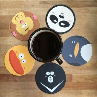 CHUMIO Illustrator Series Coaster: Animal Stickers