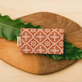 Business Card Holder/Begonia Glass Pattern/Lady Rouge