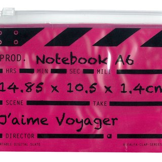 Director Clap journal jotter A6 - Pink