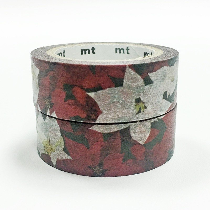 mt Masking Tape Christmas 2017【Poinsettia 2-roll Set (MTCMAS82)】