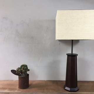 Early export antique walnut and European table lamp
