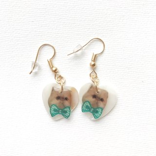 Persian Cat Kiki Cute Handmade Natural Sea Shell Earrings