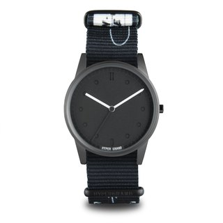 "01 Basic Series - ""INHIBITION"" FOOLPROOF Black and White Hand-painted Watch"