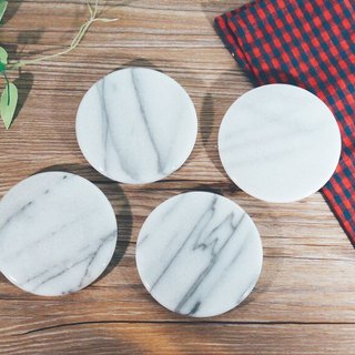 [Taiwan Tea Coaster (Four Enrollment)] Elegant and Elegant Marble Coaster Natural Raw Stone Free Shipping