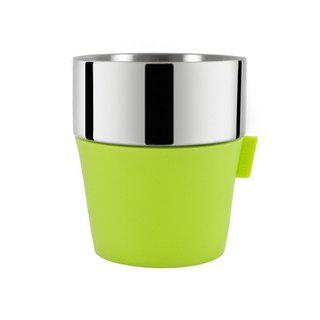Driver Double Layer Coffee Cup 350ml - Pretty Green Party Cup, Picnic Cup