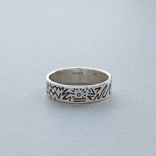 Doodle Silver Ring 006 - size 21JP
