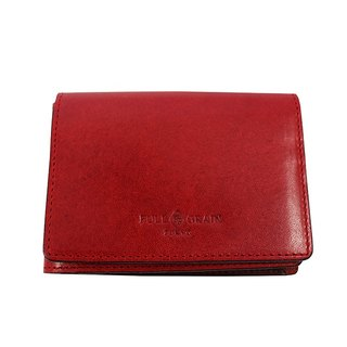 FULLGRAIN │ classic simple two fold wallet card holder red