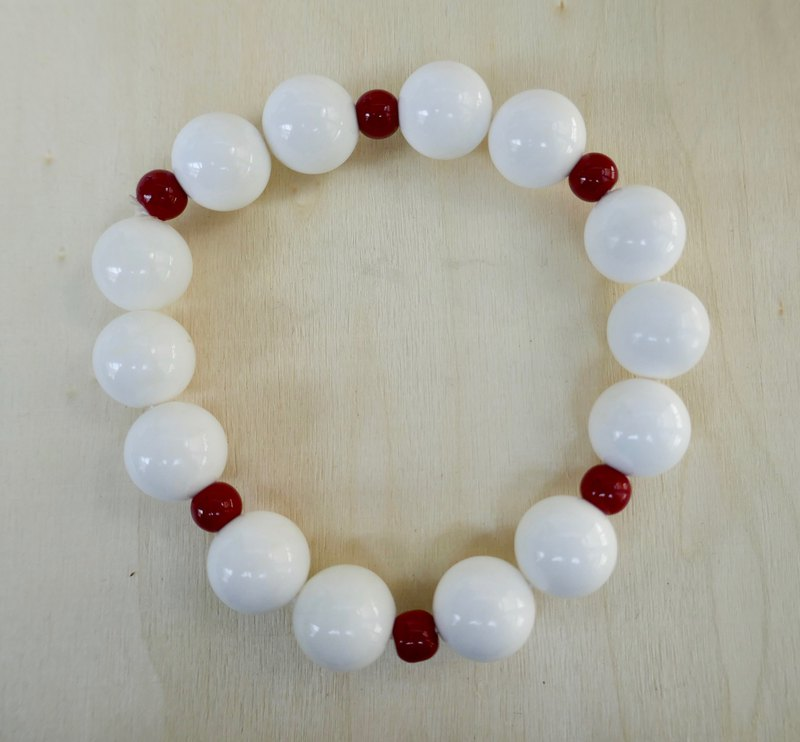 BR0375 - Christmas New Products - Natural Gemstone Bracelets - Home Design & Making - Natural 砗 磲 & Red Sea Bamboo