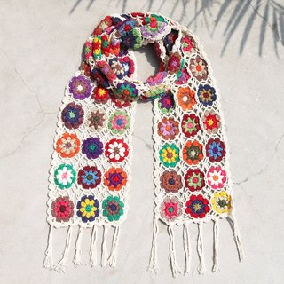 Christmas gifts exchange gifts handmade limited edition handmade crocheted scarves / flowers crocheted scarves / crocheted scarves / hand-knit scarves / flowers woven stitching cotton scarves - forest wind flower scarves