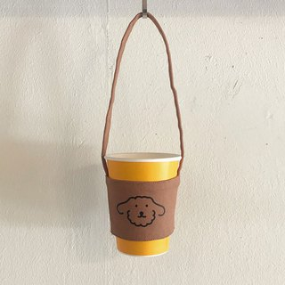 drink bag | brown poodle