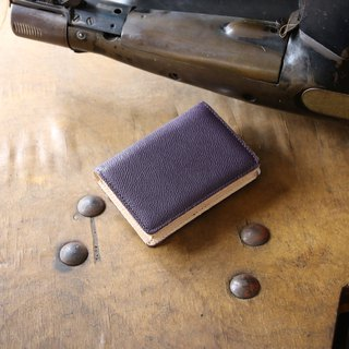 日本製造 牛皮 名片夾 名片盒 紫色 Weinheimer made in JAPAN handmade leather card case