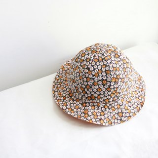 Small floral handmade double-sided visor hat fisherman hat