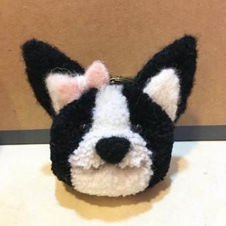 Handmade Boston Terrier Keyring