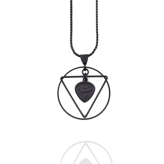 Geometric Halo Necklace