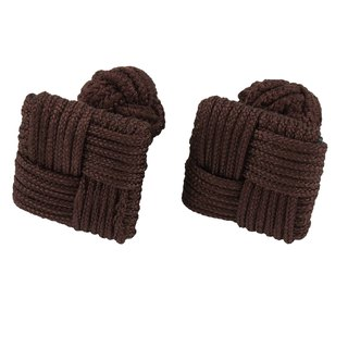 Brown Square Silk Knot Cufflinks