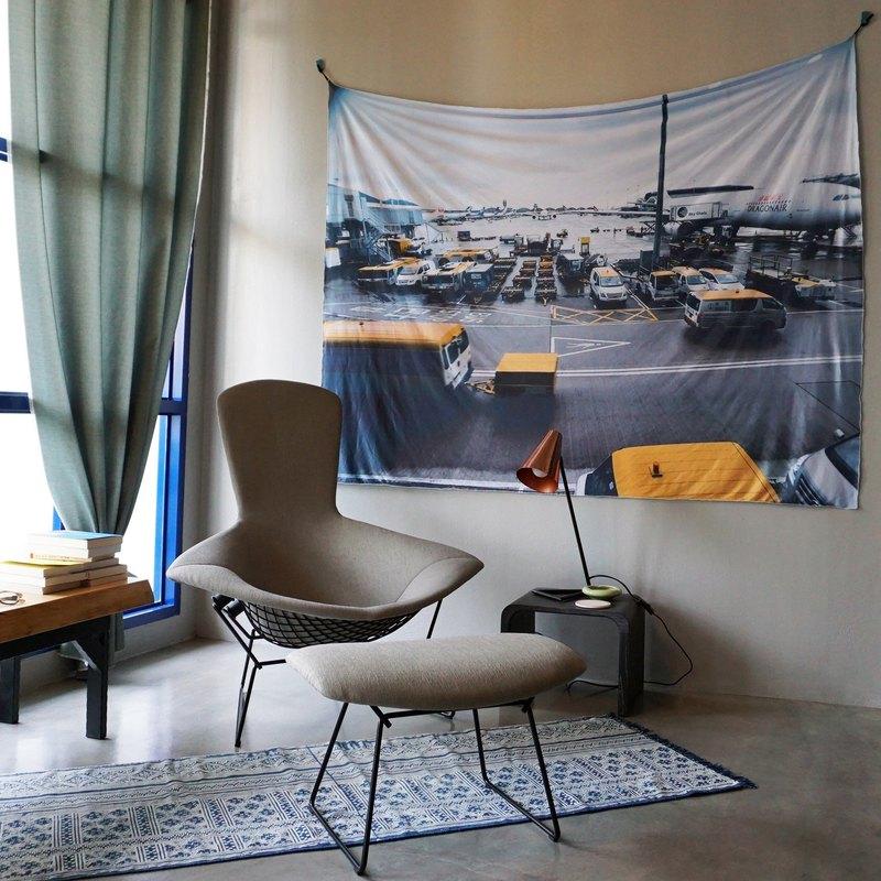 免費訂製你的專屬壁幔 家飾 布幔 BM02 機場 Wall Tapestry