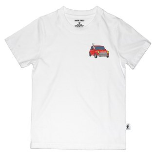 British Fashion Brand [Baker Street] Little Stamp:Driving Alpaca Printed T-shirt for Kids