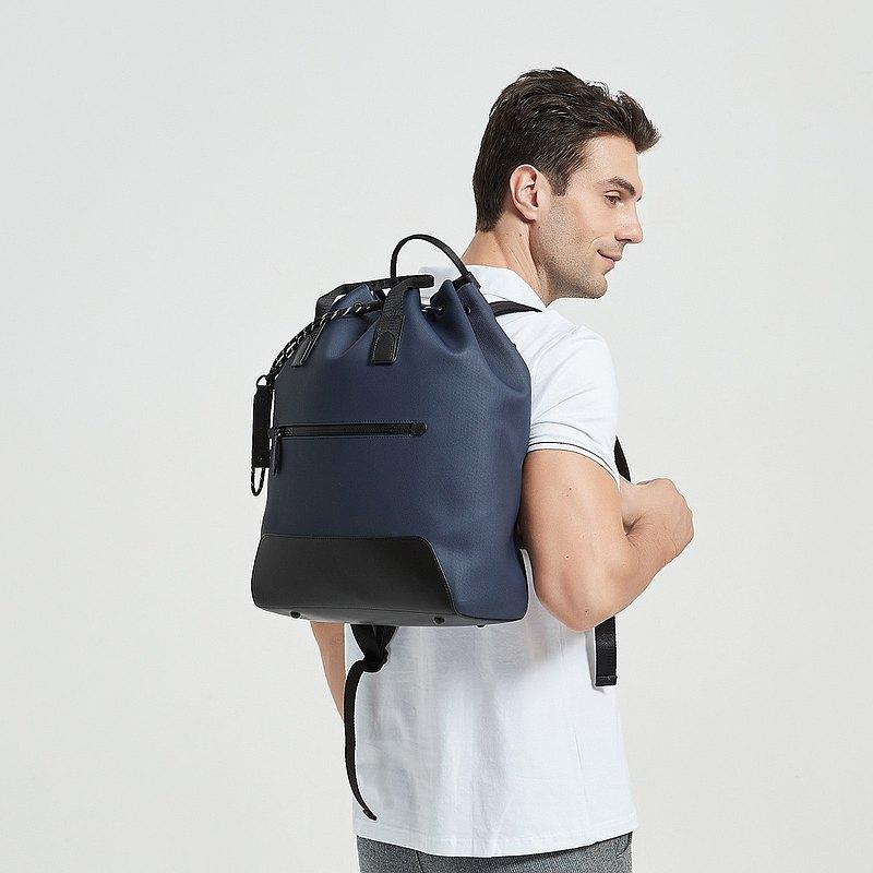 【父親節優惠】Oasis 型格輕便 大容量防水筆電背包 16吋 (藍色)