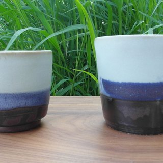 Cottage marsh violet leather grain Cup group